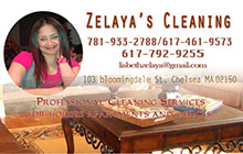 Business cards for cleaning services Revere MA